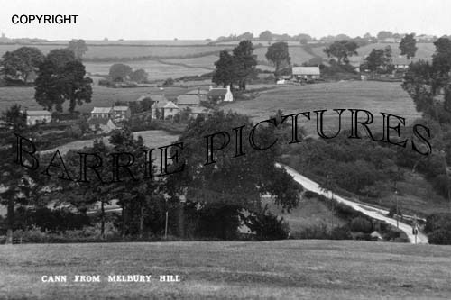 Cann, from Melbury Hill c1930