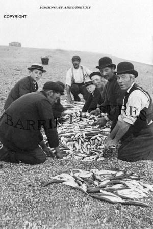 Abbotsbury, Fishing at Abbotsbury c1910