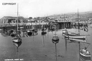 West Bay, The Harbour c1940