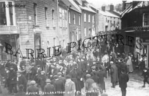 Bridport, After Declaration of Poll Jan 26th 1910