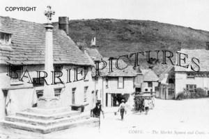 Corfe Castle, The Market Square and Cross c1910