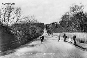 Broadstone, Blandford Road from Bridge c1910