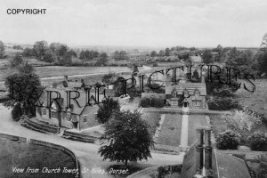Wimborne St Giles, view from Church Tower c1920
