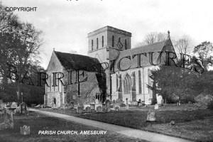 Amesbury, Parish Church c1910