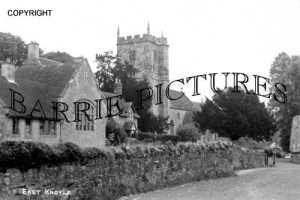 East Knoyle, School and Church c1920