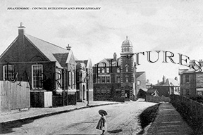 Branksome, Council Buildings and Free Library c1900