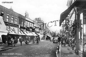 Poole, High Street c1955