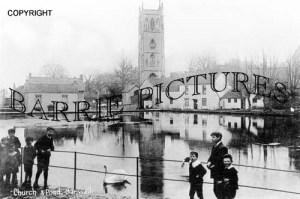 Banwell, Church and Pond c1905