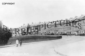 Bath, Landsdown Crescent c1930