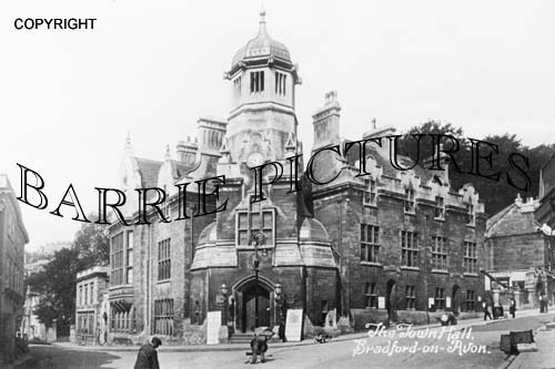 Bradford on Avon, Town Hall c1920