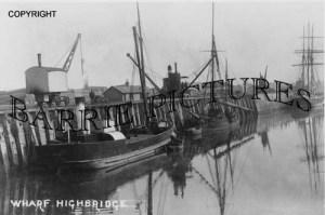Highbridge, The Wharf c1905