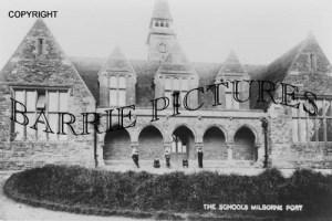 Milborne Port, The Schools c1900