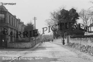 Worle, Bristol Road and Vicarage c1910