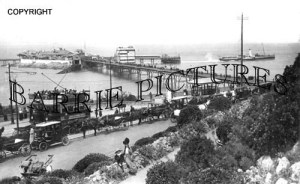 Weston Super Mare, view of the Old Pier c1920