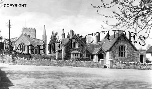 Burrington, Church and School c1940
