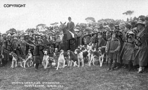 Cloutsham, Staghounds Opening Meet 1921