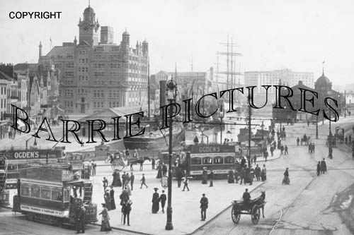 Bristol, Tramway Centre and Co-Op Building 1900
