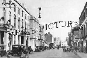 Bridgwater, High Street and Town Hall c1950