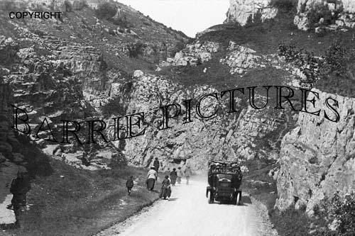 Cheddar, Cliffs c1925