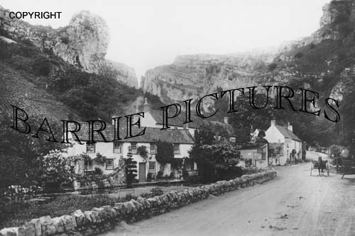 Cheddar, Lion Rock and Gorge c1910