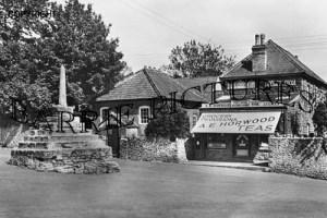 Westbury sub Mendip, Post Office and Cross c1945