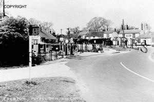 Everton, Petrol Station and Crown Inn c1955