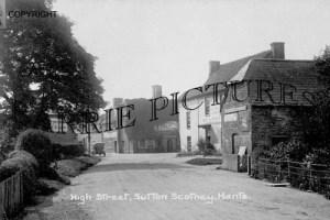 Sutton Scotney, High Street c1930