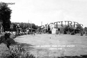 Abbotts Ann, The Salisbury Road Filling Station c1955