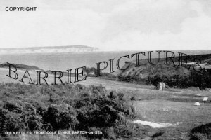 Barton on Sea, The Needles from the Golf Links c1950