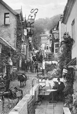 Clovelly, Village c1920