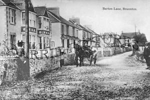 Braunton, Barton Lane c1900