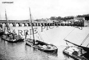 Bideford, Bridge and Barges c1900