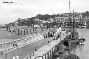 Brixham, the Pier c1920