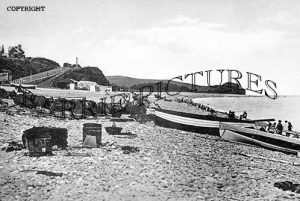 Budleigh Salterton, Boats and Beach c1900