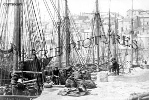 Brixham, Trawlers Coaling c1904