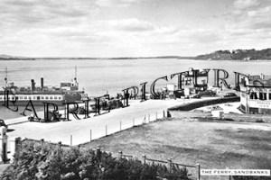 Sandbanks, The Ferry c1950