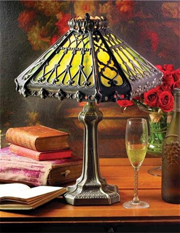 Gothic Greenhouse Lamp Victorian Green Glass Lamp