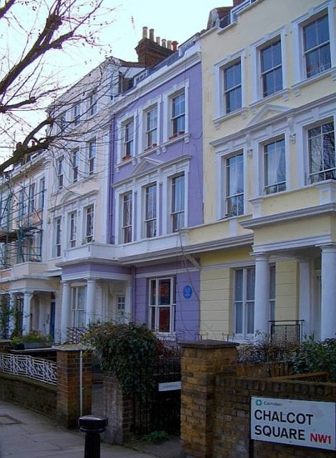 The west side of Chalcot Square, London