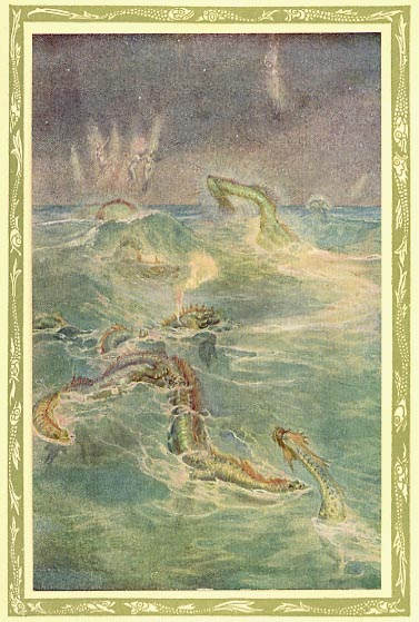 The Water Snakes by Wily Pogany (image scanned by George P. Landow)