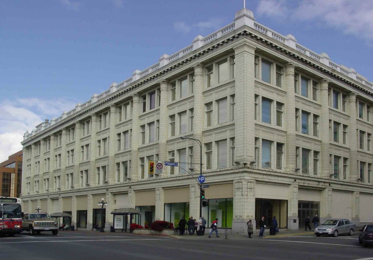 1701 Douglas Street in 2005, prior to renovation into The Hudson (photo by Victoria Online Sightseeing Tours)