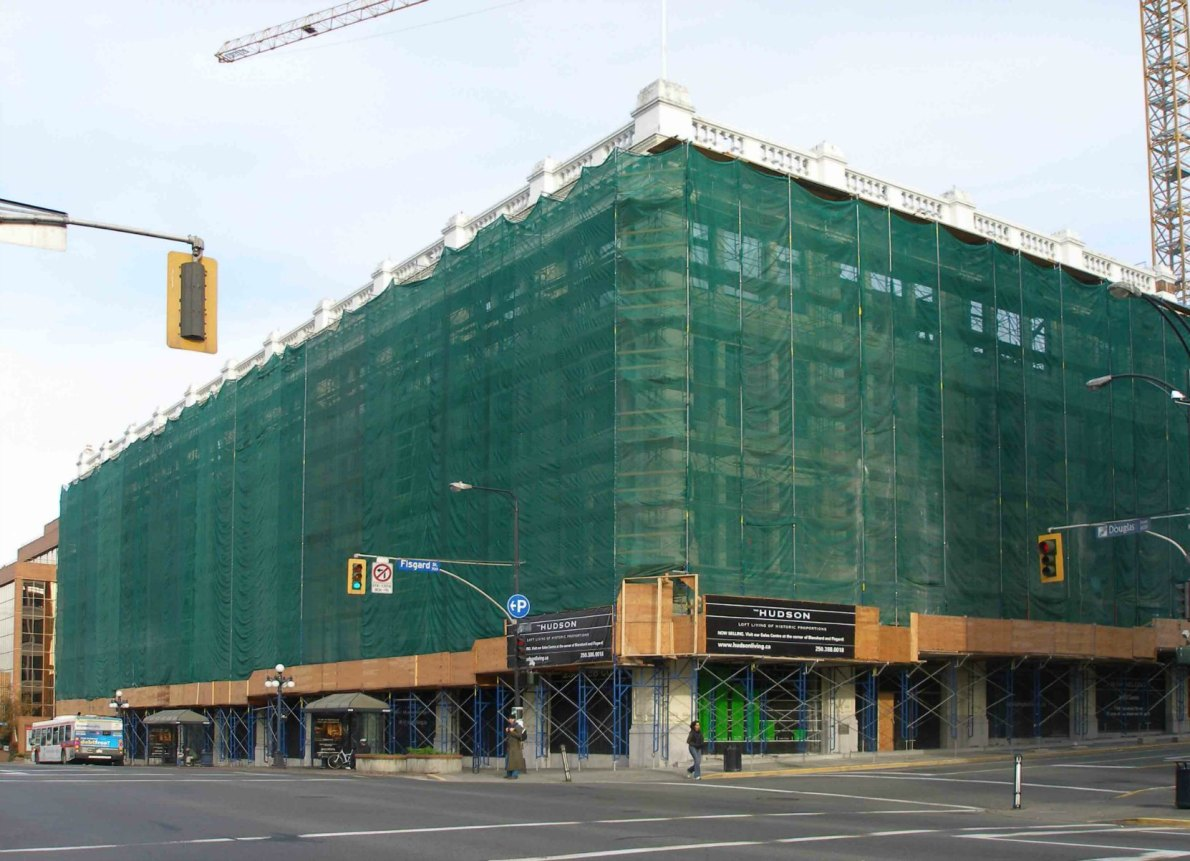 1701 Douglas Street in 2008 during renovation into The Hudson (photo by Victoria Online Sightseeing Tours)