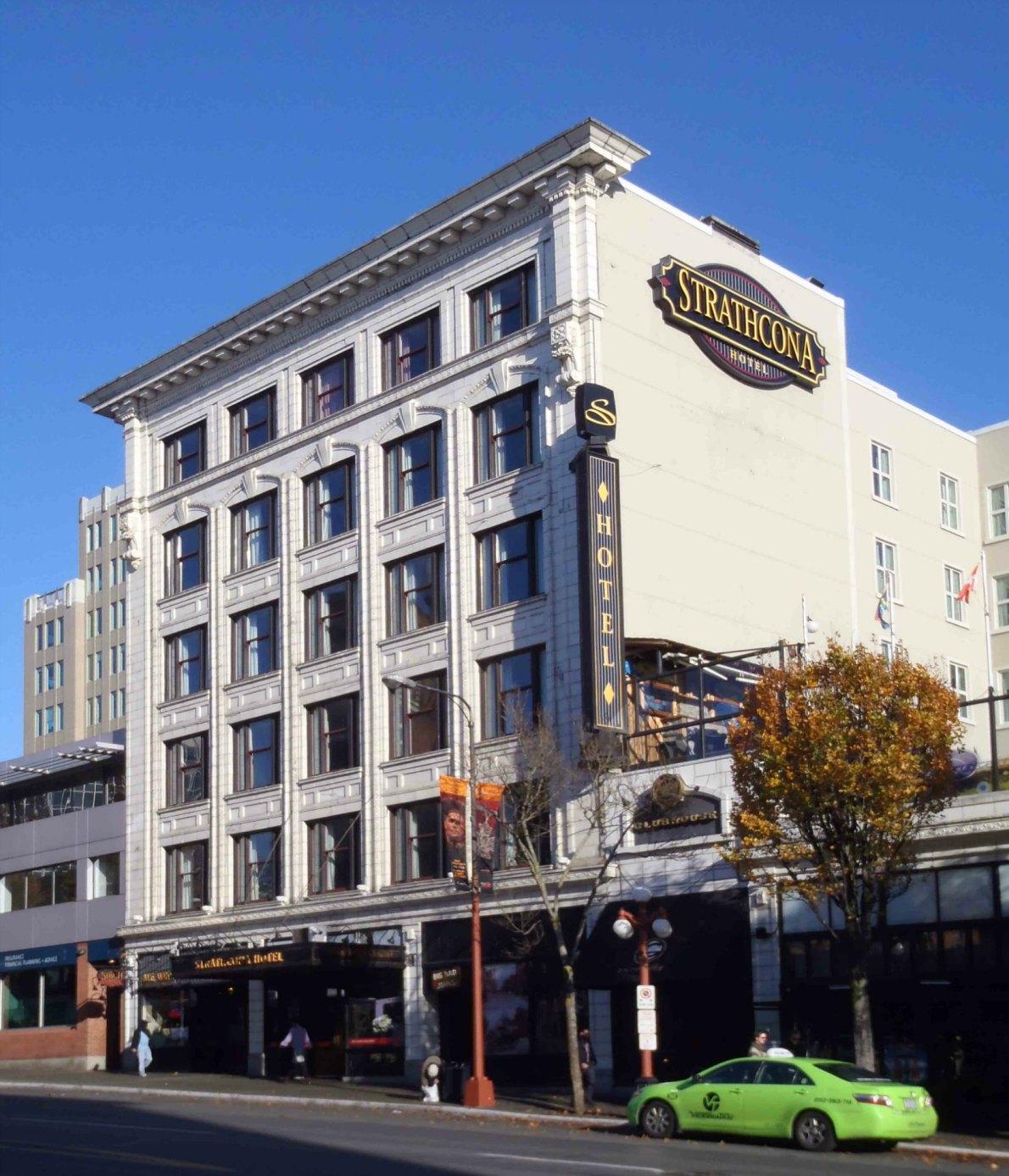 Strathcona Hotel, 919 Douglas Street. Built in 1911.