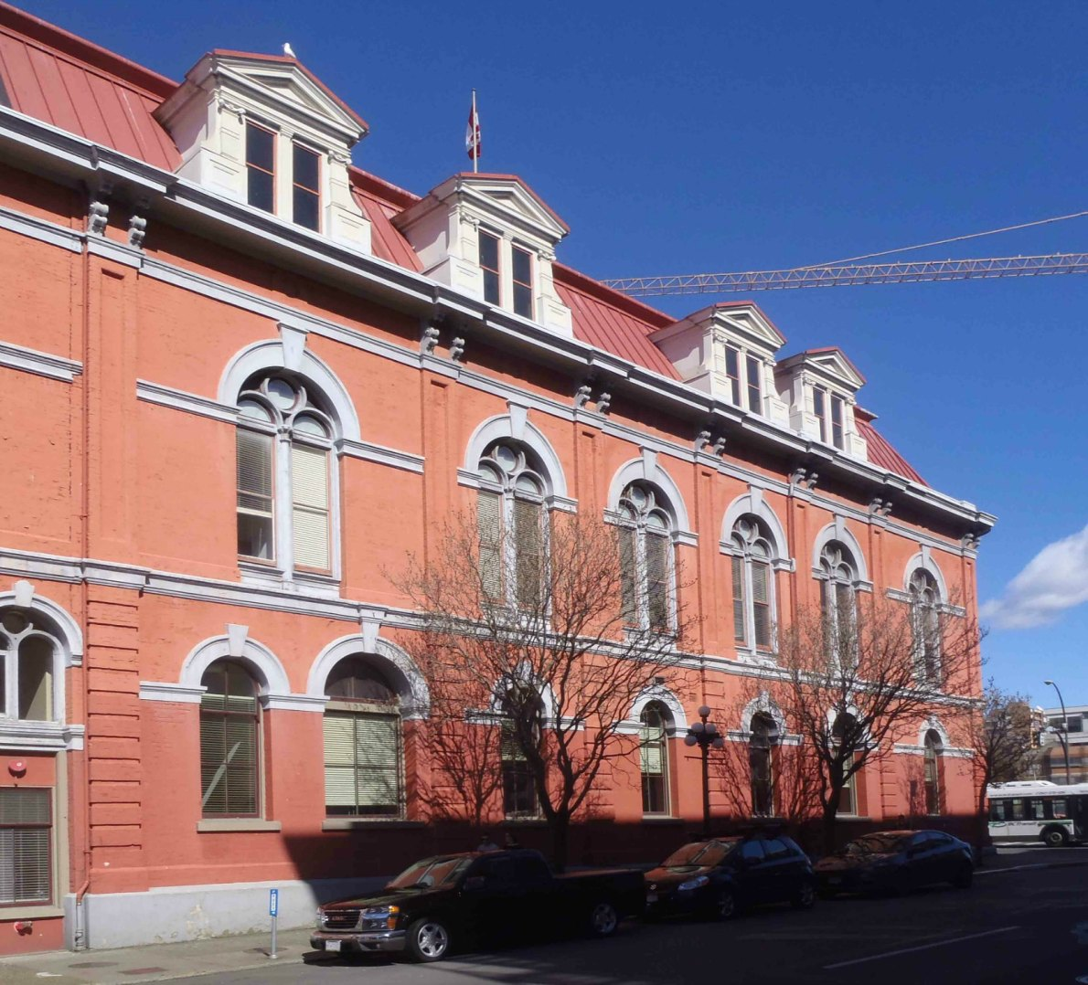 The original 1878 section of Victoria City Hall as it appears today (photo by Victoria Online Sightseeing Tours)