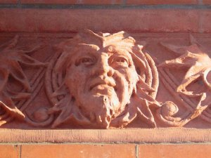 Decorative detail on Temple Building, 525 Fort Street