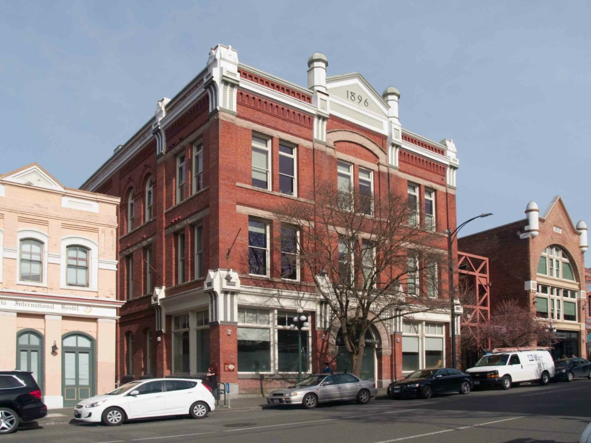 The Leisier Building at 524 yates Street, built as a warehouse for Simon Leiser in 1896