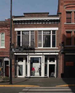 564 Yates Street, originally built circa 1861 for Nathiel Moore's Dry Goods store. It's now Hughes Clothing.