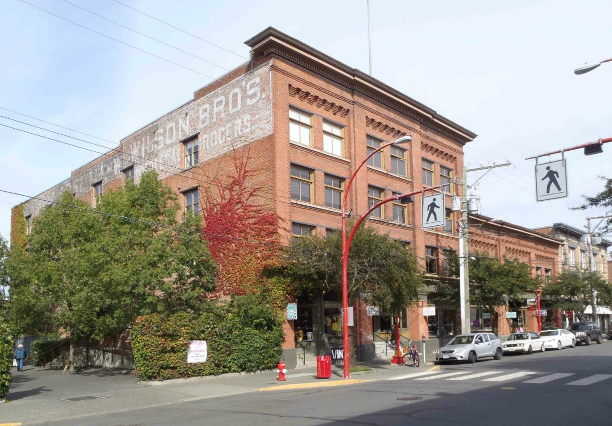 532 Herald Street, built circa 1909 as an office and warehouse for Wilson Brothers Wholesale Grocers.