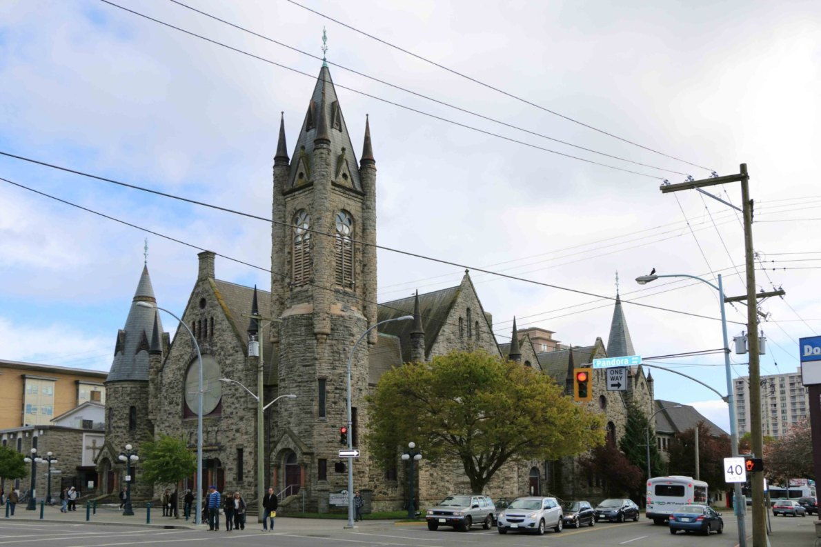 The Victoria Conservatory of Music, 907 Pandora Avenue. The building was designed in 1890 by architect Thomas Hooper as the First Methodist Church.