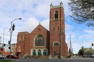 First Metropolitan United Church, 1701 Quadra Street. Built in 1912 by architect J.C.M. Keith as the First Presbyterian Church