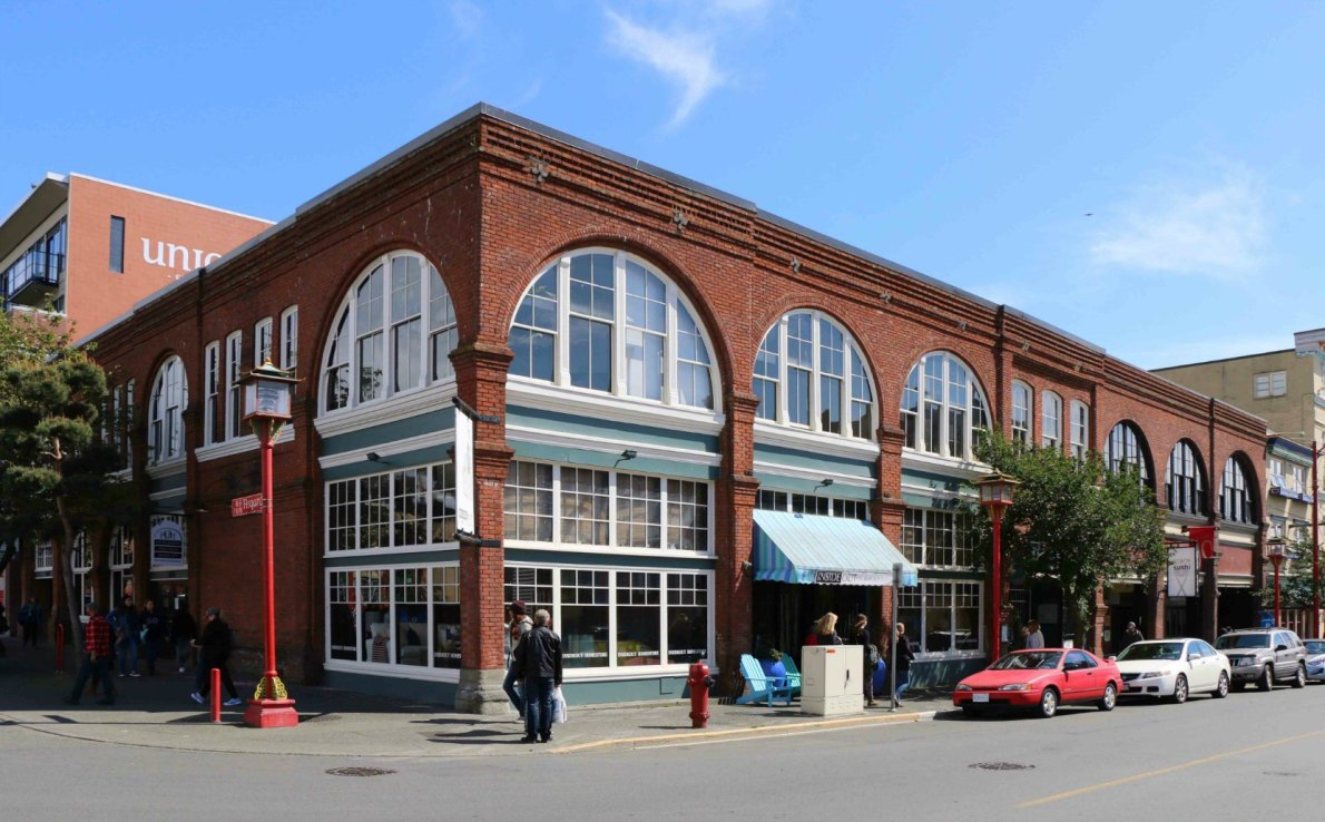 505 Fisgard Street and 1619-1627 Store Street, built in 1898 by architect Thomas Hooper